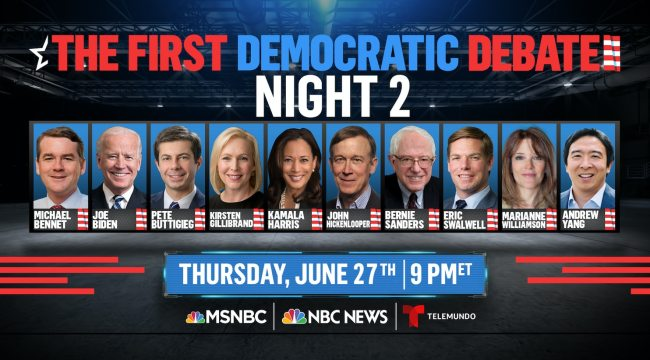 Image result for Democratic debate lineups