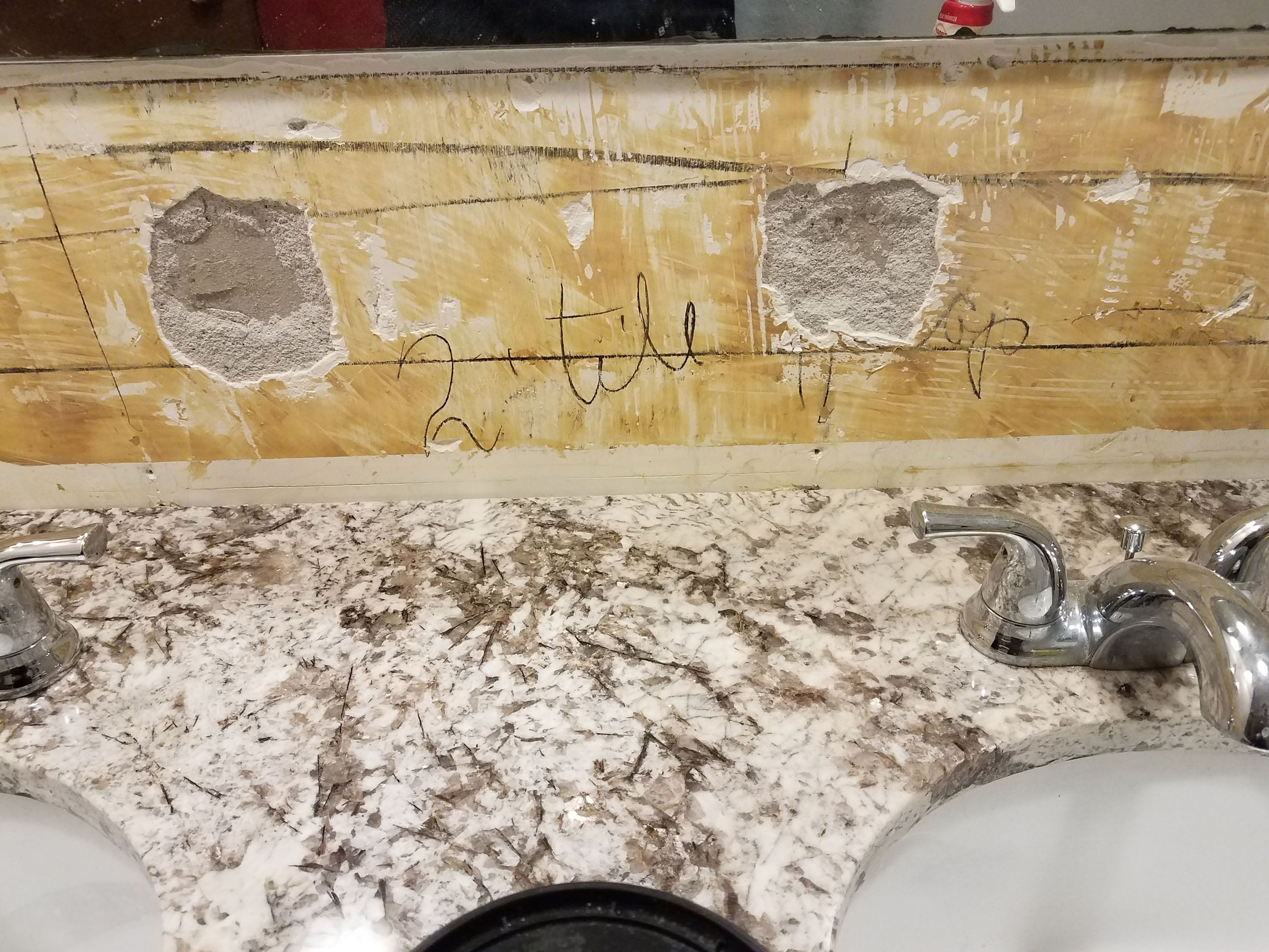 put ceramic tile on an imperfect wall
