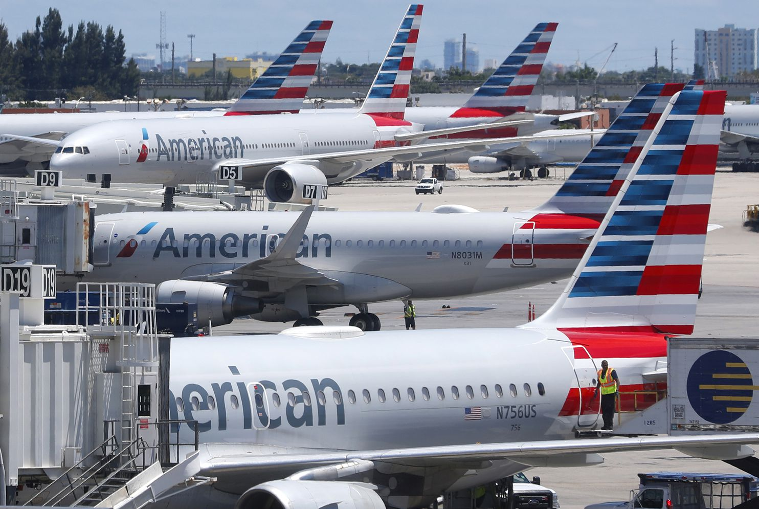 An American Airlines employee took Ashley Barno's number from the bag tag, then followed it in flight, says the lawsuit