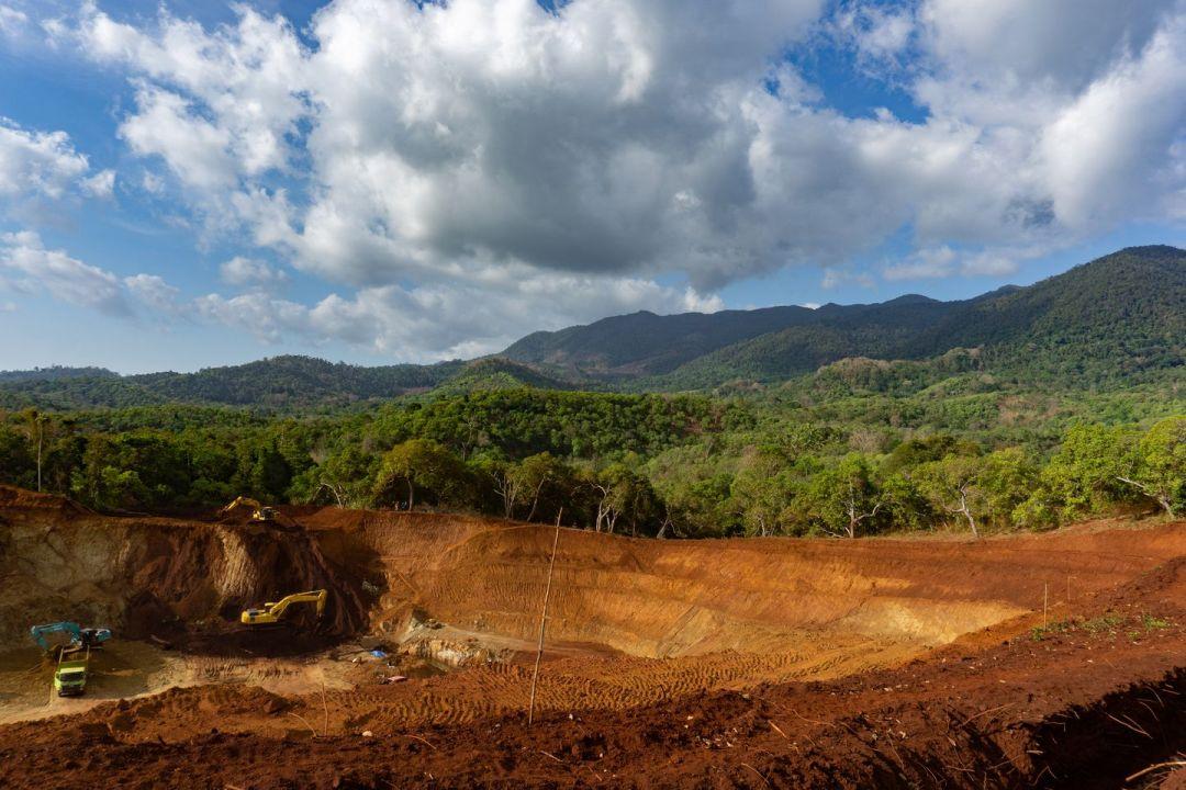A nickel mine on Indonesia's Kabaena Island. (Ian Morse for The Washington Post)