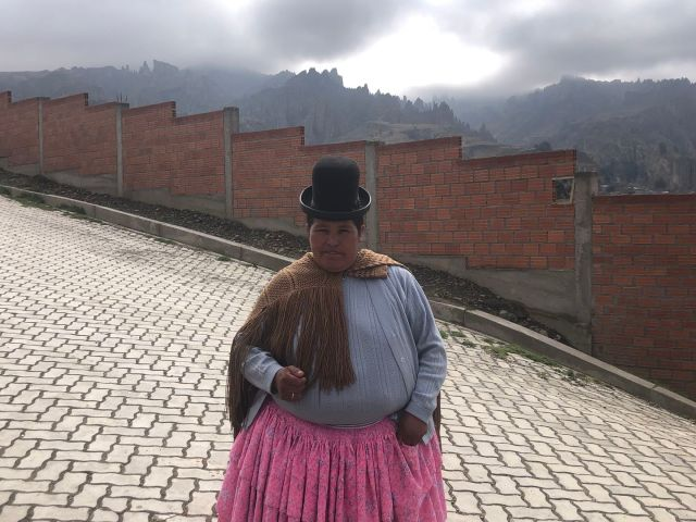 Levearia Kachi, a 48-year-old indigenous single mother who works as a maid in La Paz, supports Morales. His government has brought roads and sewage lines to her working-class neighborhood. (Photo by Biser Belinov)