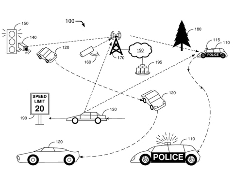 Ford wants to patent a driverless police car that ambushes