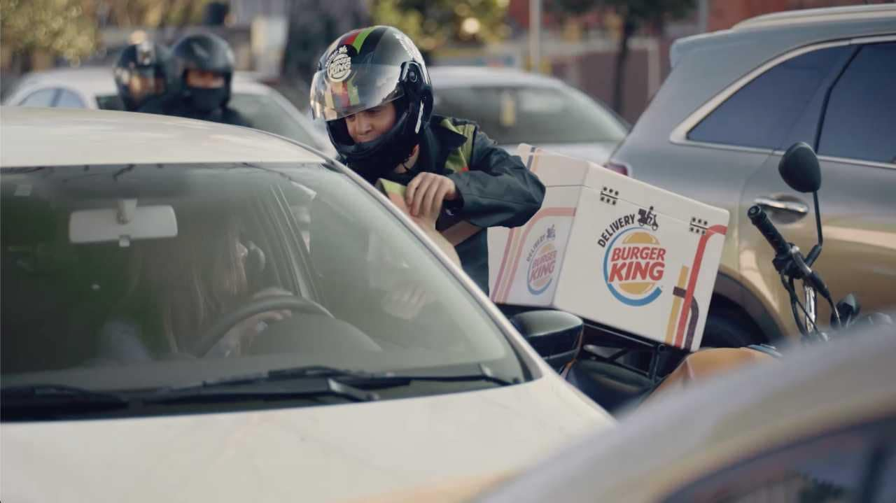 Burger King brings food delivery to drivers stuck in