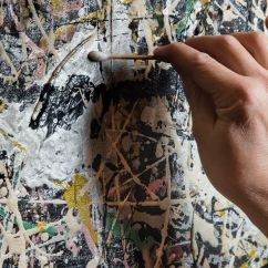 4 Falten Methode Jackson Pollock Ballast Wiring Diagrams Pollack Painting Gets Conservation Treatment In
