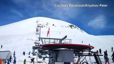 ski chair lift malfunction indoor cushions with ties georgia accident video shows chairlift horror at resort in gudauri the washington post