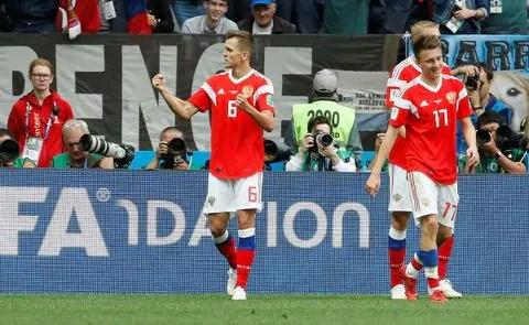 I5ZXNWY3EI33RDZAXGC4G733GQ - Russia vs. Saudi Arabia 2018 World Cup: Hosts coast to 5-0 thumping in opener