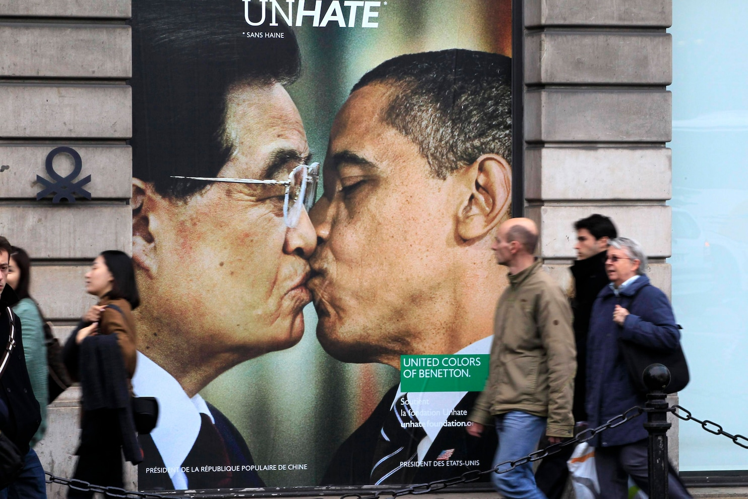 Benettons controversial kissing ads  The Washington Post