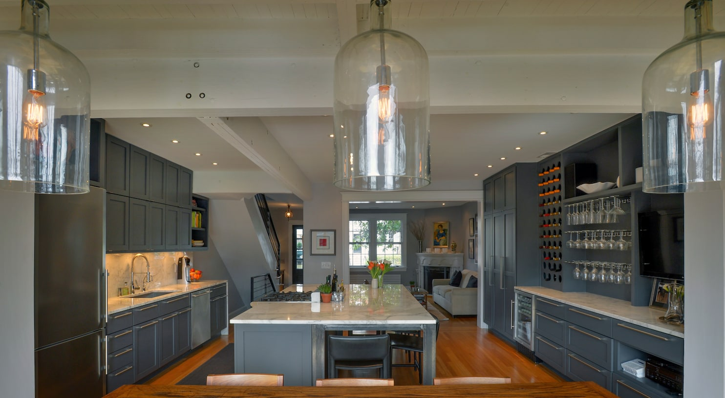 Bringing Light And Life Rowhouse Kitchen