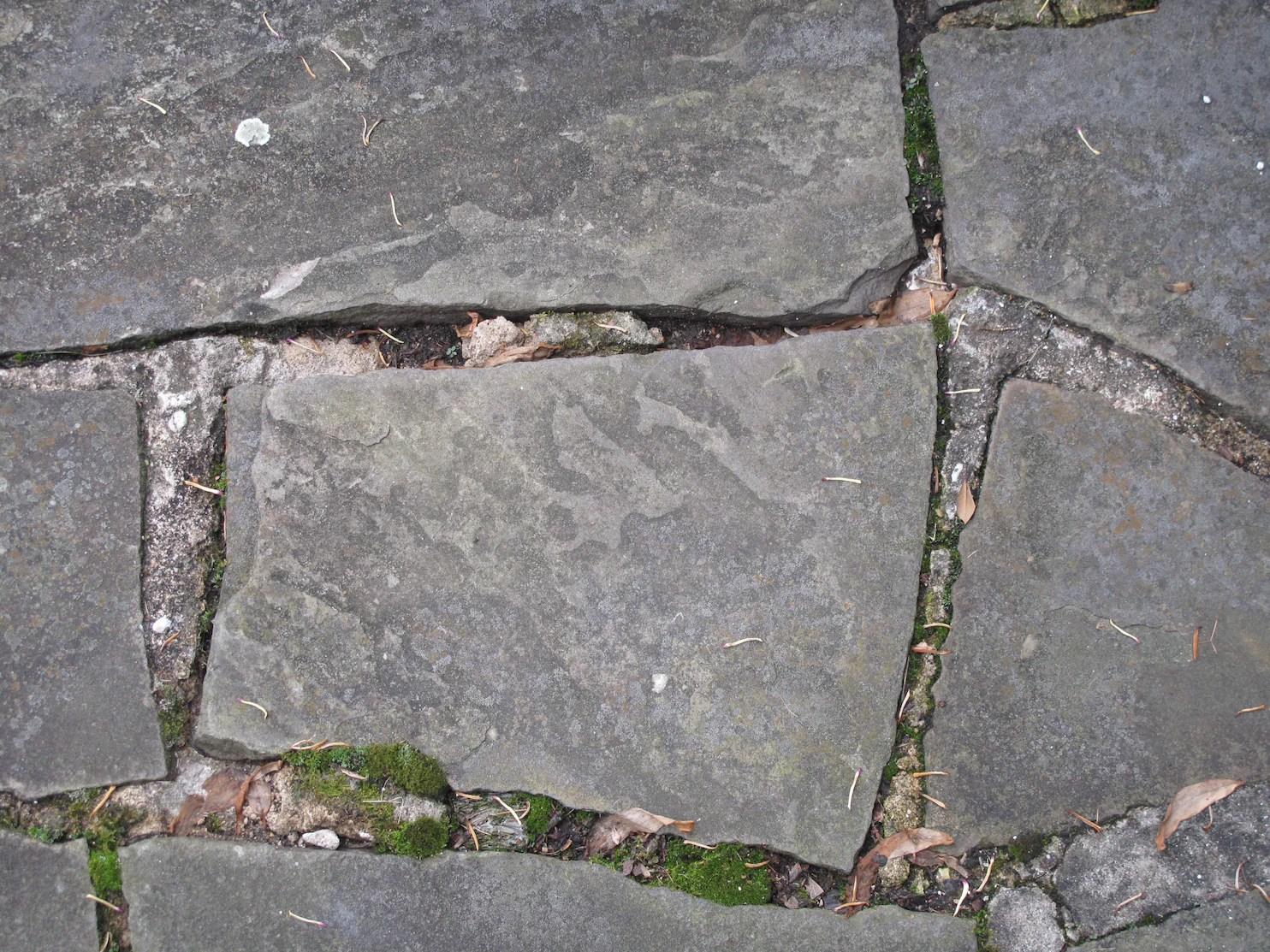 to repair a crumbling flagstone patio