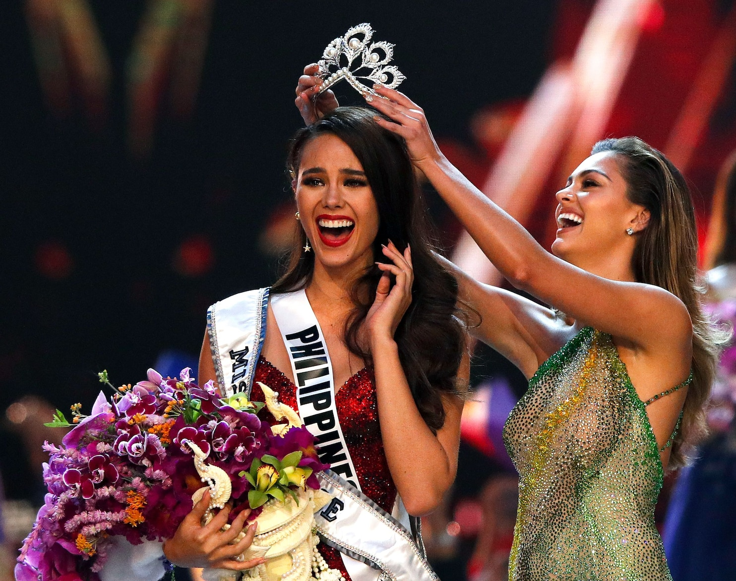 The scene during the 2018 Miss Universe pageant The