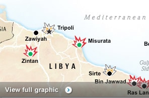 Follow how events are unfolding in Libya.