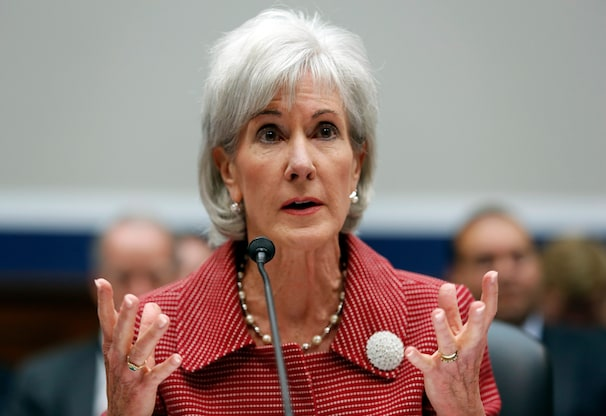 U.S. Department of Health & Human Services (HHS) Secretary Kathleen Sebelius testifies before a House Education and the Workforce Committee hearing on Capitol Hill in Washington, June 4, 2013. Under questioning from members of Congress, Sebelius testified that she made two phone calls  to companies not regulated by HHS in an attempt to raise money for a nonprofit group called