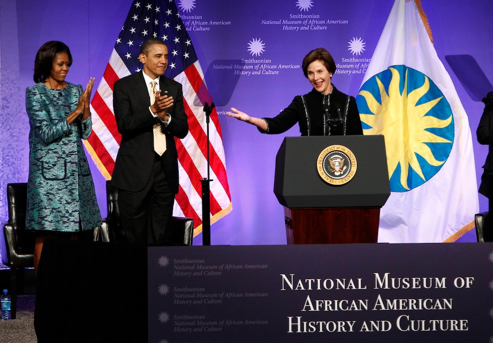 President & Mrs. Obama, and Former First Lady, Laura Bush