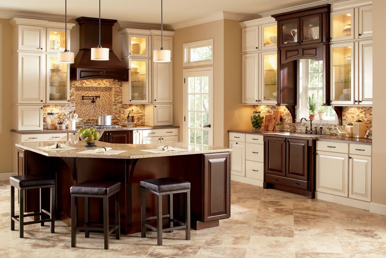 american woodmark kitchen cabinets sink faucet repair 2017 grasscloth wallpaper