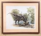Raul Martin's 'Albertosaurus and Lambeosaurus'