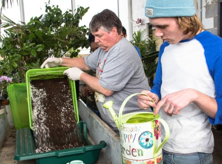 learning to make a fresh batch of soil