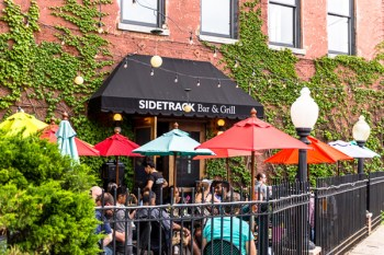 Patio view of Sidetrack Bar & Grill