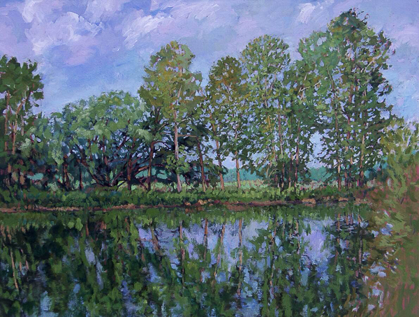 Riechart's Pond in Late Summer a painting by VanVoorhis