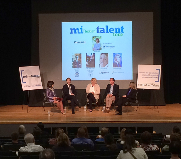 Panel discuss employment opportunities for disabled persons.