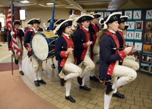 The Plymouth fife and drum corps performs