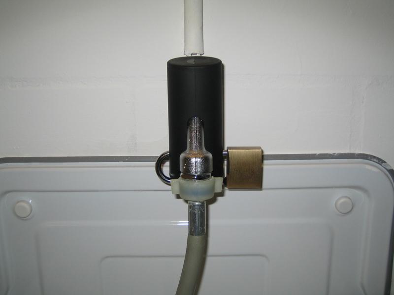Wasserhahn sichern mit der abschliebaren