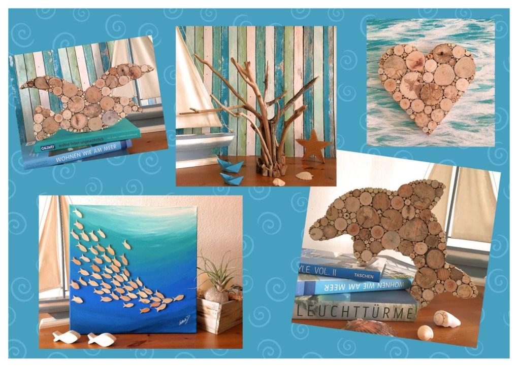 erfrischende Dekoration - Collage