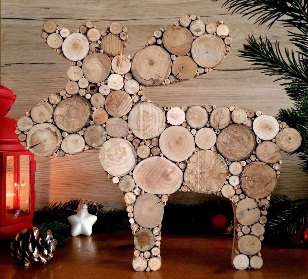 Elch Dekoration aus Treibholz, Weihnachtsdekoration