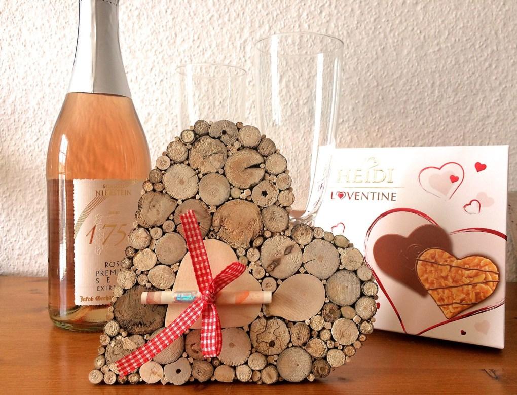 Hochzeitsgeschenk Geldgeschenk Herz Treibholz
