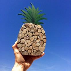 Ananas Holzdeko