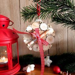 Weihnachtskugel, Kugel aus Treibholz