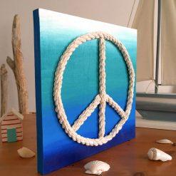 Peace Zeichen Seitenansicht
