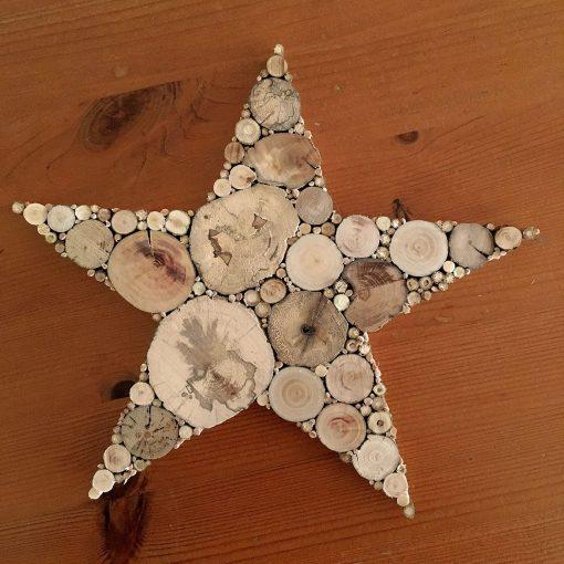 Stern aus Treibholz Holzstern