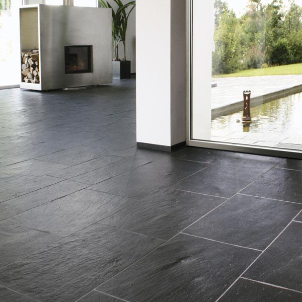 Bodenplatten Schiefer PORTO Naturstein Baumaterial