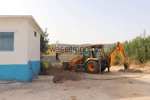 ربط المحول الكهربائي الجديد بمحطة الضخ حمام زاوي ببلدية حامة بوزيان بولاية قسنطينة