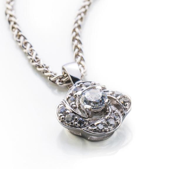 Diamantanhnger Weissgold 750 mit 13 Brillanten H SI 0