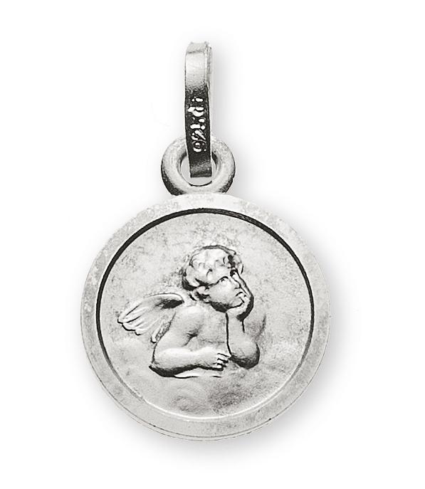 Medaille Engel Weissgold 585 10mm  Wassner Webshop