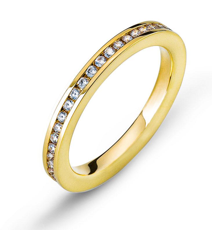 Mmoire Ring Gelbgold Kanal Fassung 750  Wassner Webshop