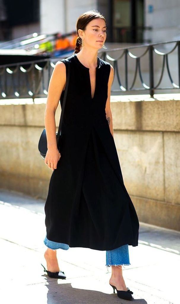 Black dresses with jeans