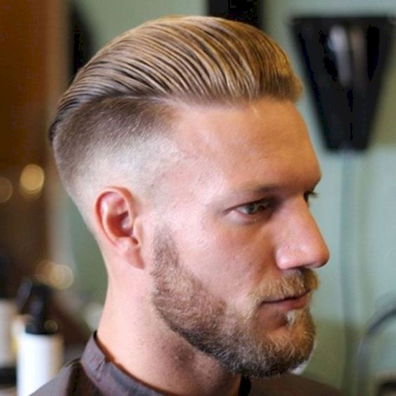 Haircuts for men with blonde hair swept hair