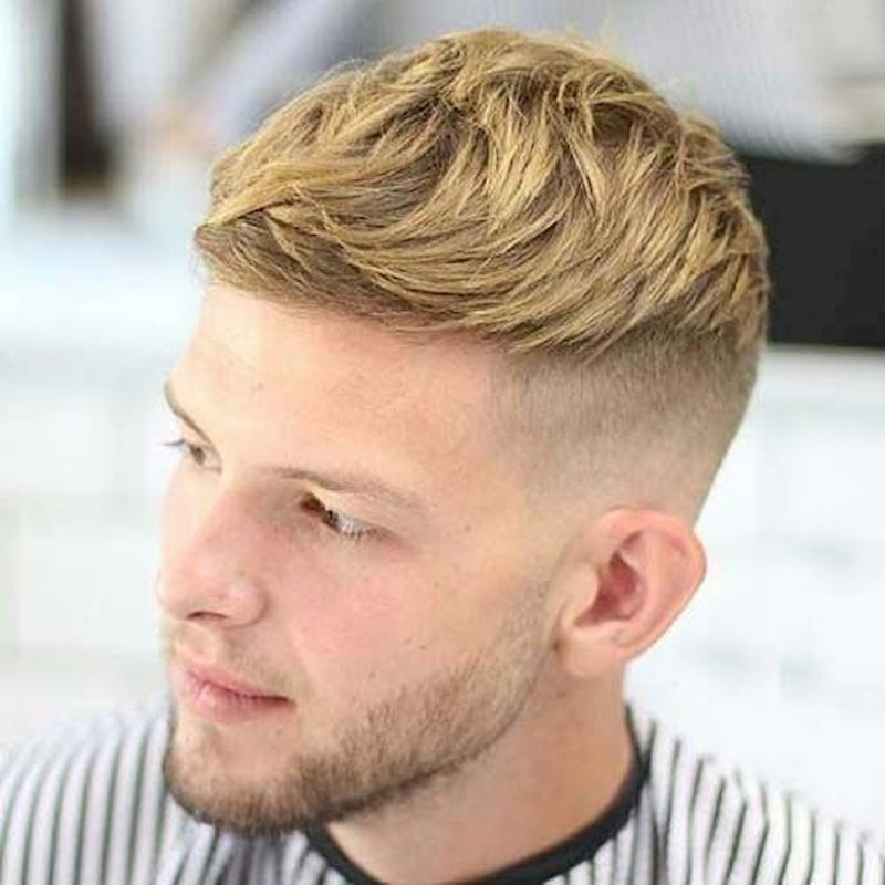 Haircuts for men with thin blonde side pieces