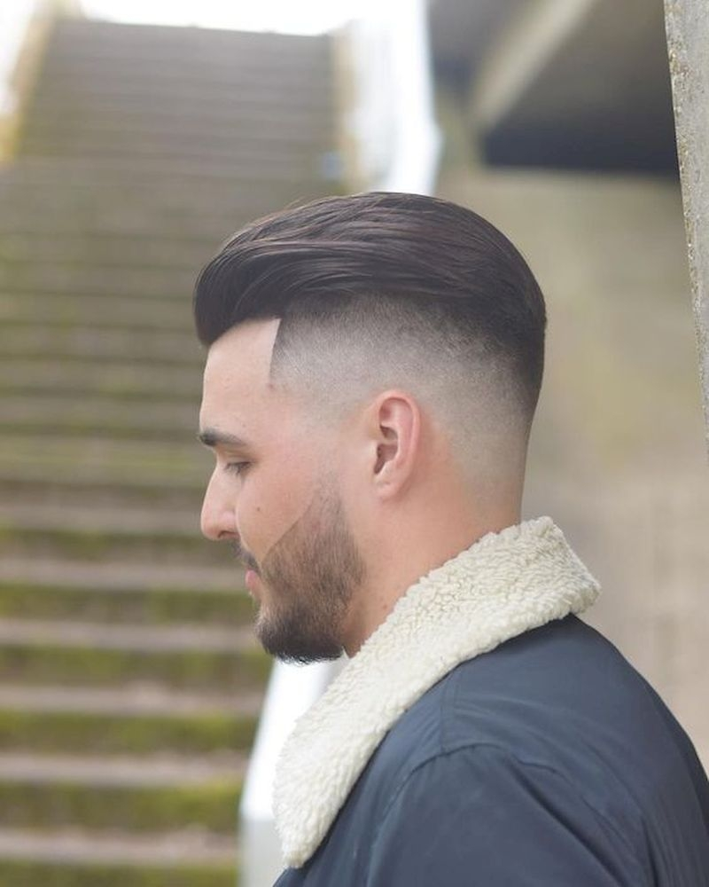 Haircuts for men with thin sides and back combed