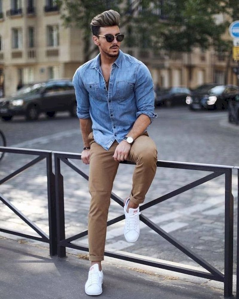 Outfit men with jeans shirt