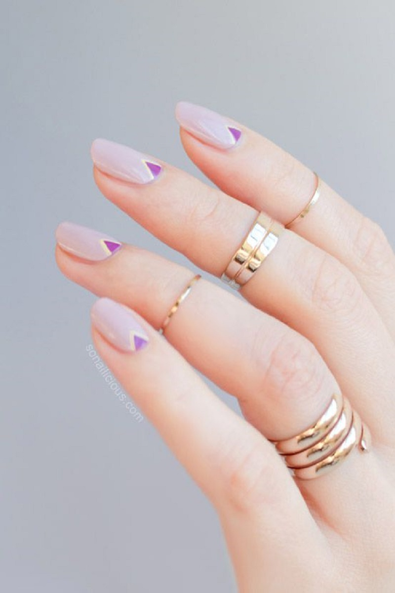 Little lilac triangles