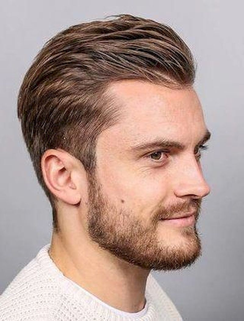 Hairstyles for bald men with hair combed back