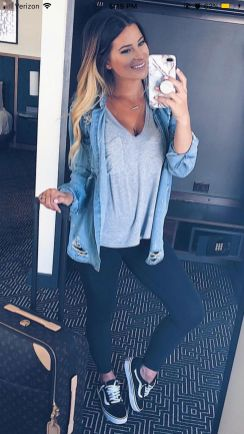 51 Fall Travel Outfit Ideas For You Who Always On The Go (19)