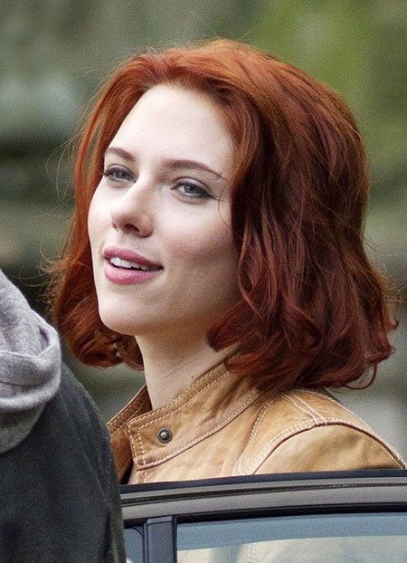 Red Scarlett Johansson Hair