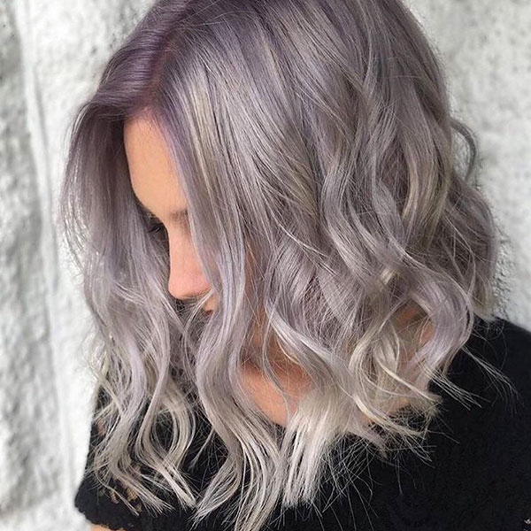 Short Wavy Lavender Hair