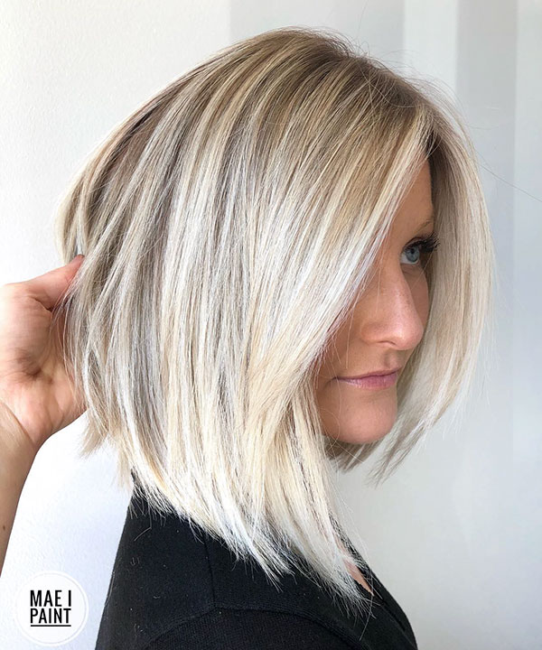 Platinum Blonde Short Hairstyles