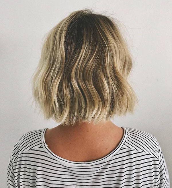 Ombre Blonde Short Hair