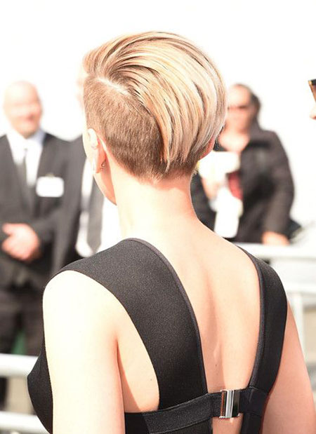 Back View, Voluminous Pixie Scarlett Johansson